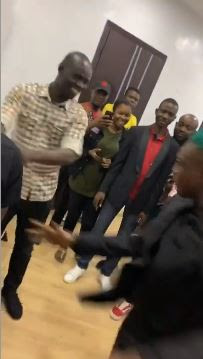 """I No Dey Do Again"" -  Man Shouts As Zlatan Beats Him At ""After Round One"" Game (VIDEO)"