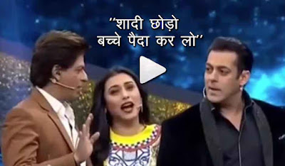salman khan shahrukh khan rani mukerji on the sets of dus ka dum