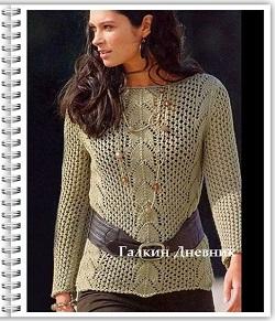 ajurnii-pulover-spicami | жіночий-пуловер-спицями |жаночы-пуловер-пруткамі