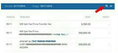 cetak ulang bukti transfer mandiri lewat internet banking