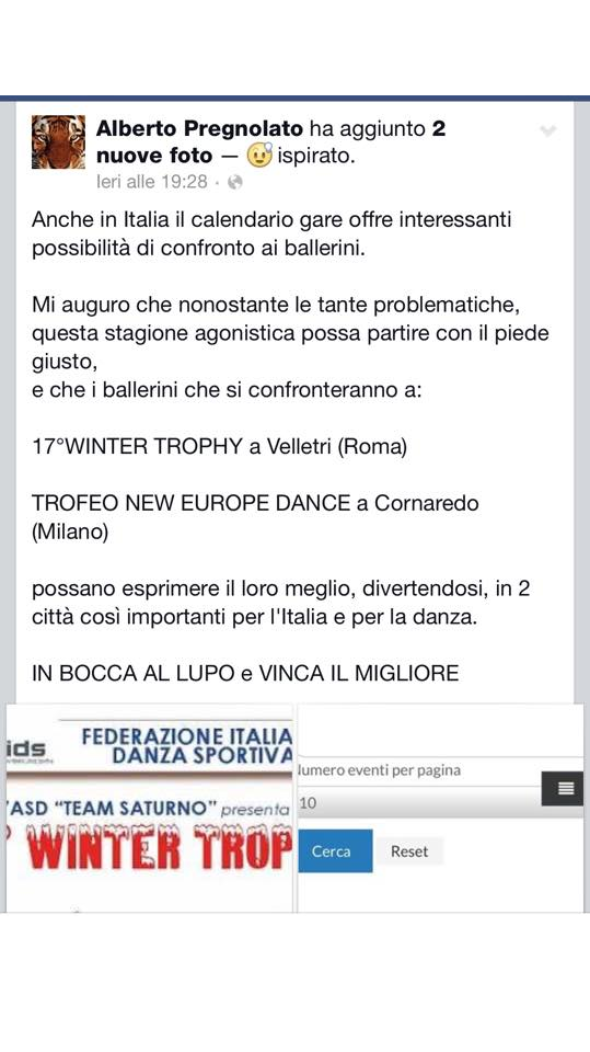 Calendario Fids.Spot Danza Sportiva Calendario Gare Allo Sballo
