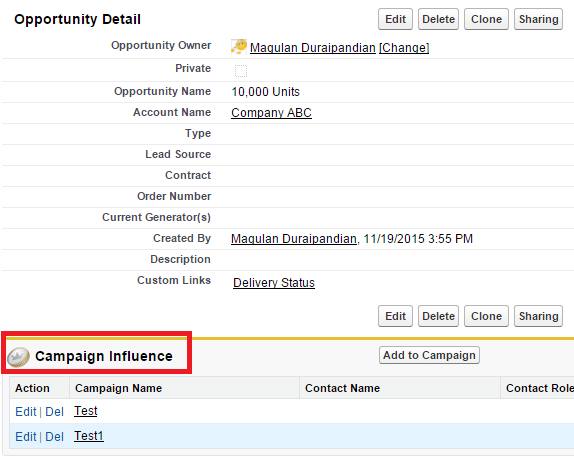 Infallible Techie: Campaign Influence in Salesforce