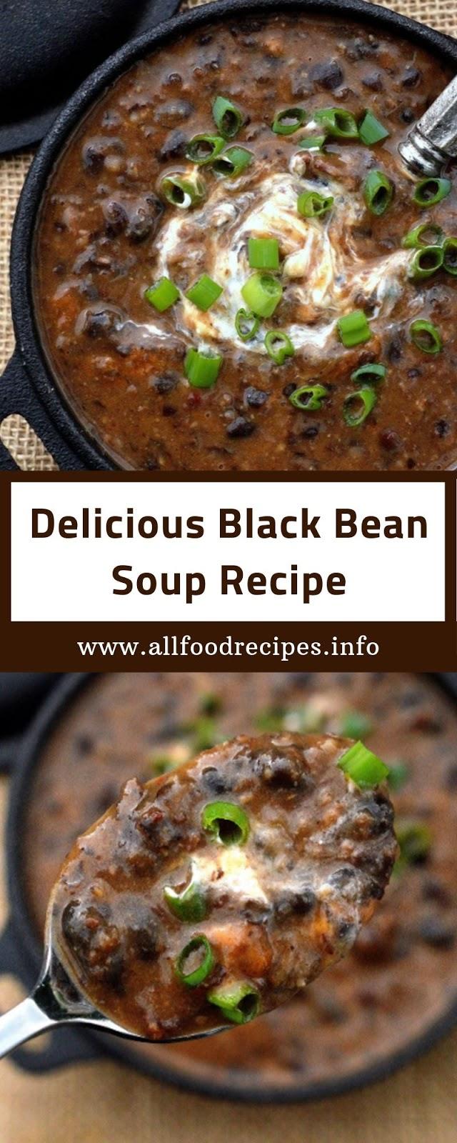 Delicious Black Bean Soup Recipe