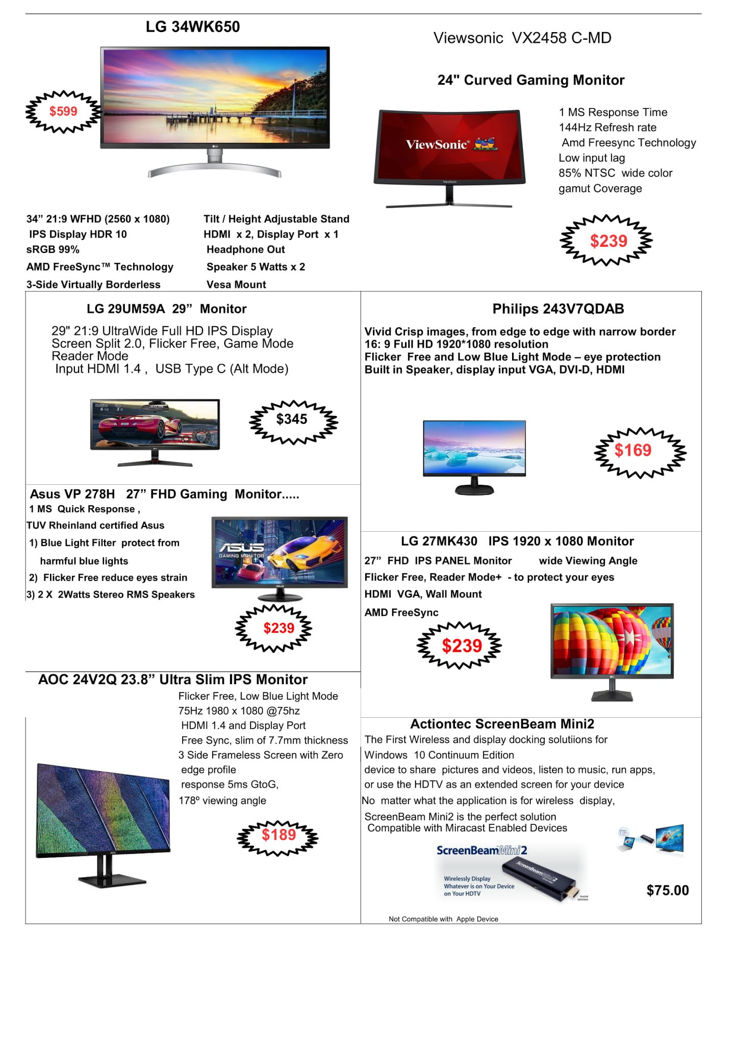 SG PC Fair - Online Brochures, Flyers and Price List: Laser