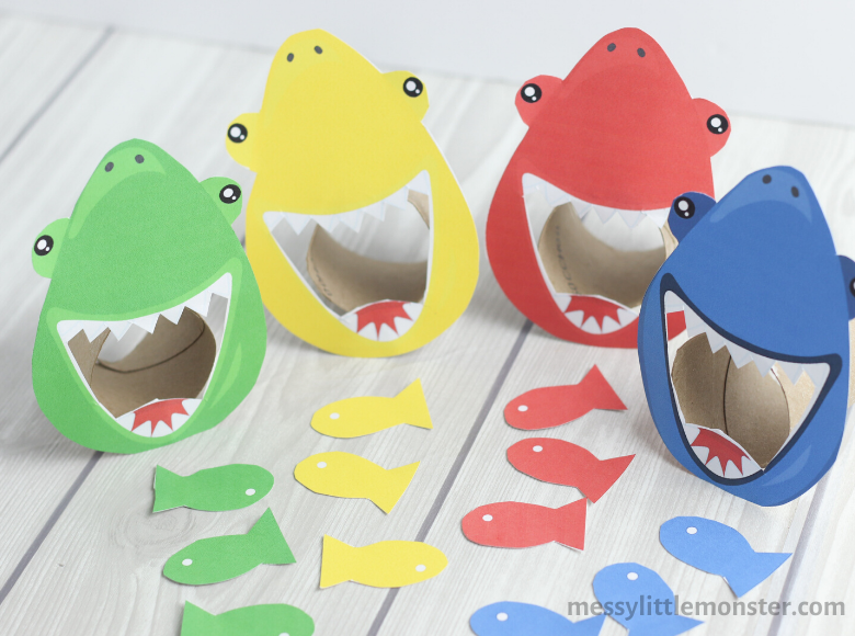 Color matching shark game for kids