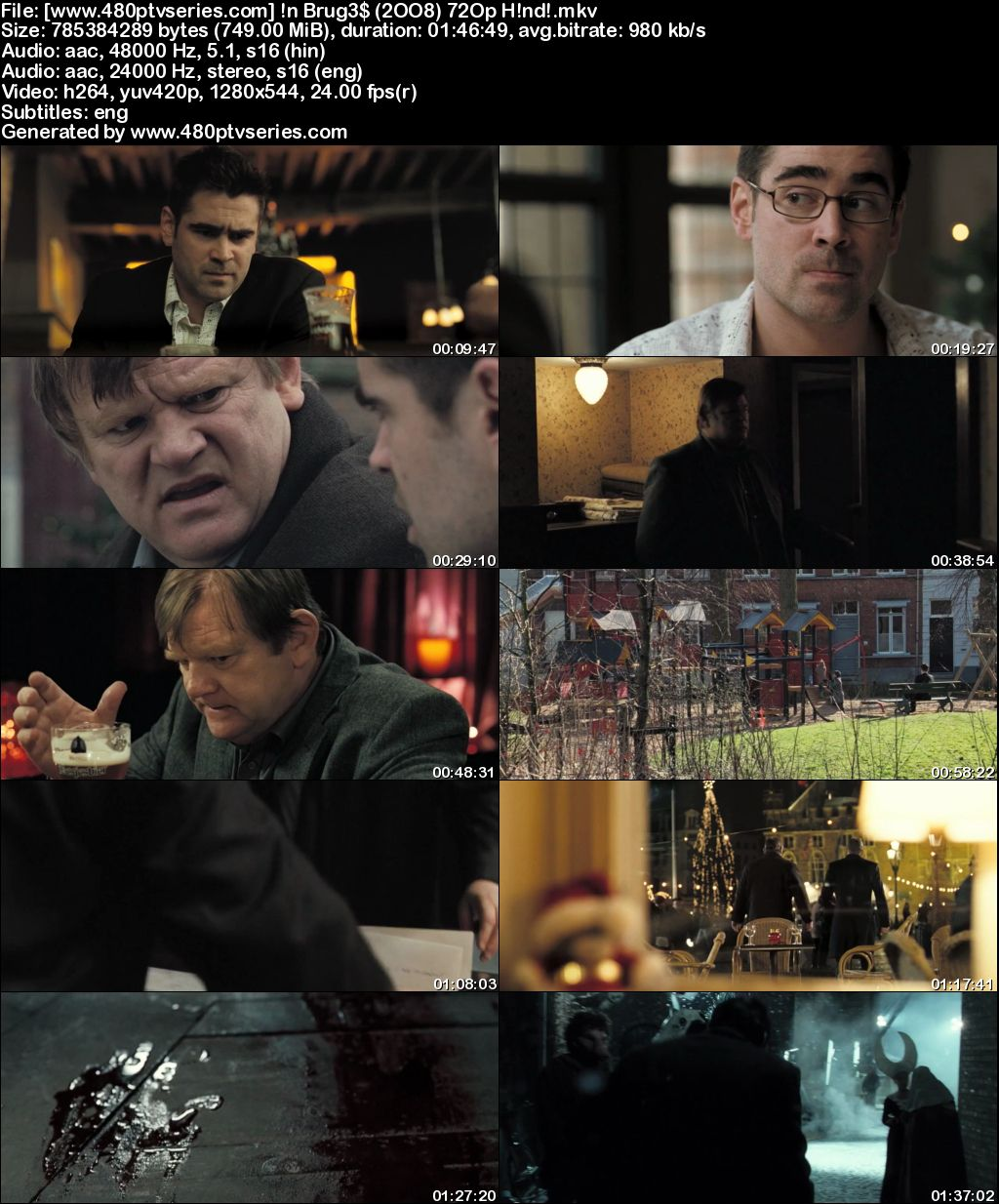 Watch Online Free In Bruges (2008) Full Hindi Dual Audio Movie Download 480p 720p Bluray