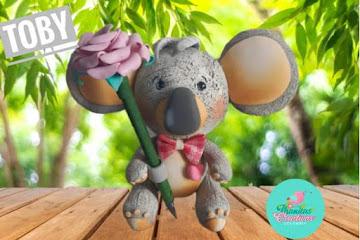 Molde baby coala para imprimir: Artes em EVA