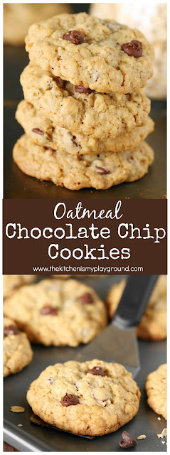 Oatmeal Chocolate Chip Cookies pin image