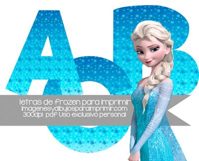 Letras de frozen para imprimir