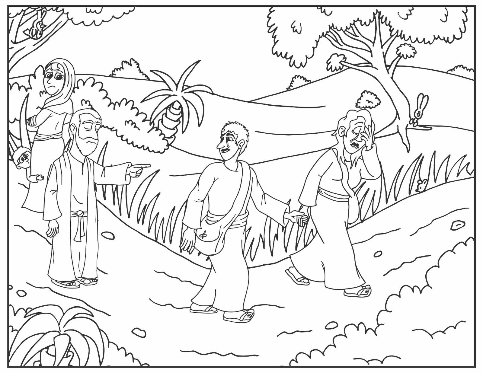 Abraham coloring pages isaac and ishmael