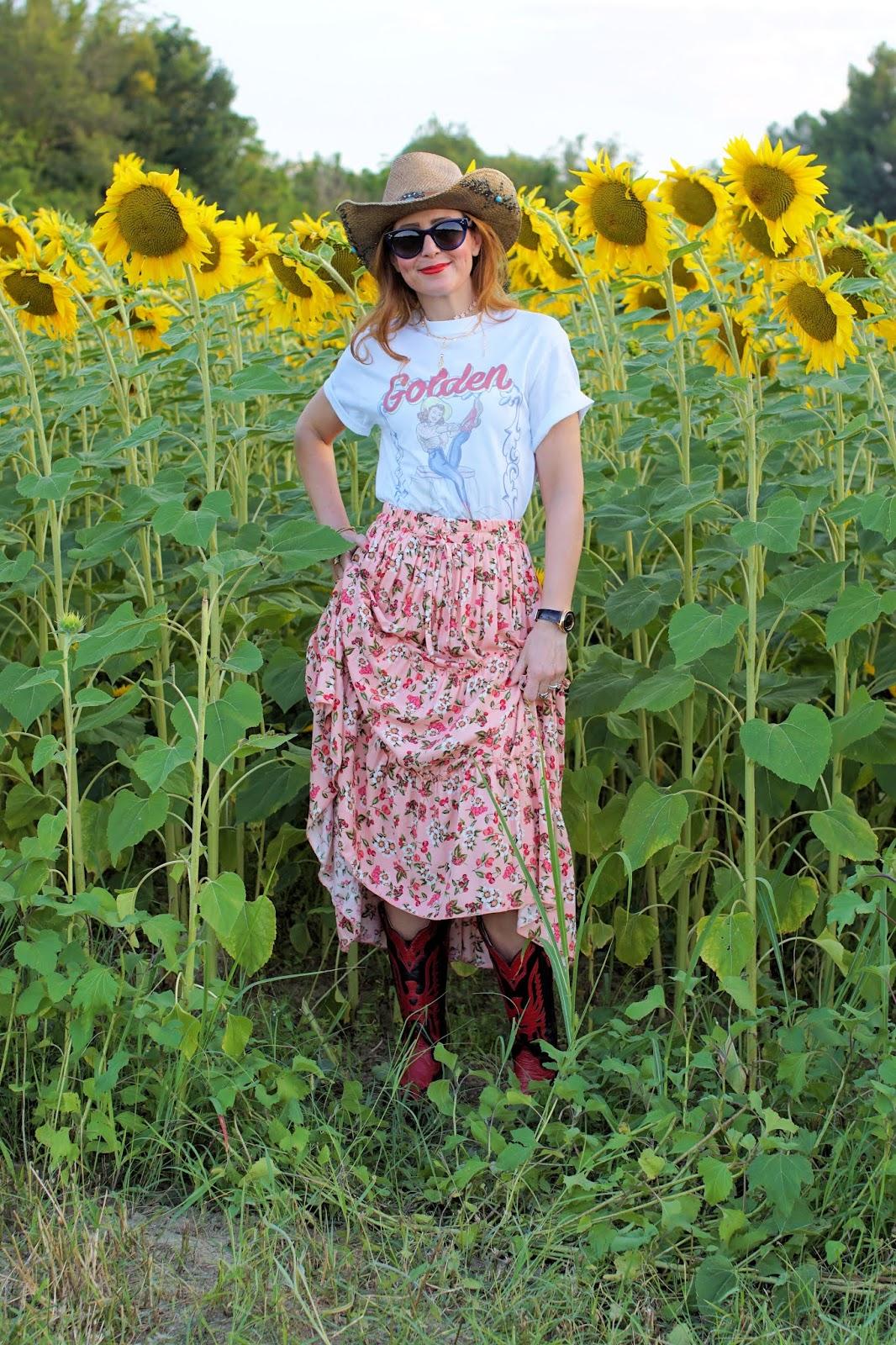 Dove trovare campi di girasoli su Fashion and Cookies fashion blog, fashion blogger