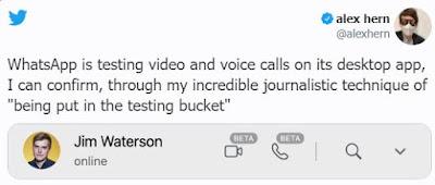 قريبًا ميزة المكالمات المرئية والصوتية على  WhatsApp Desktop