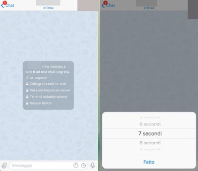 autodistruzione Telegram