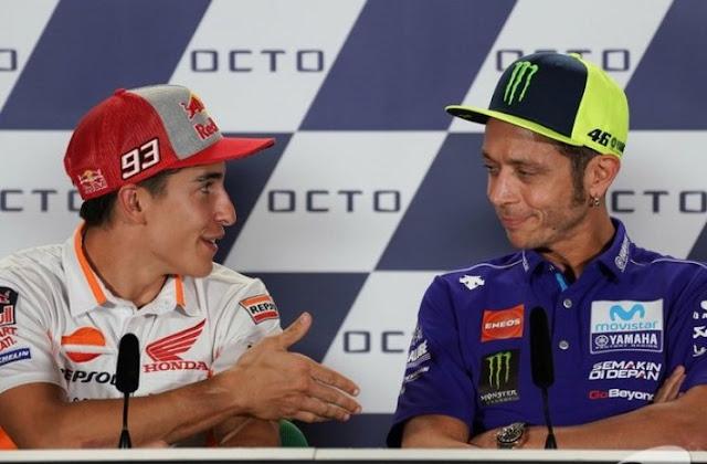 Fakta Dibalik Perseteruan Valntino Rossi Dan Marc Marquez