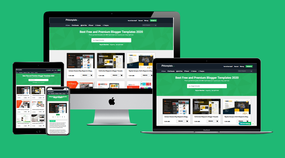 Pkstyle Responsive Blogger Template