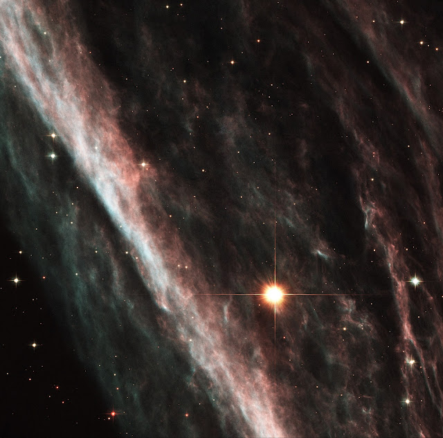 The Pencil Nebula: Remnants of an Exploded Star