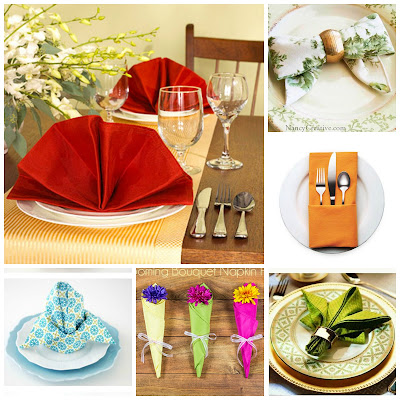 image diy tutorial napking folding fan cutlery holder server fleur de lis bouquet chef's hat