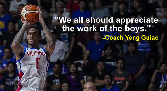 """""""We all should appreciate the work of the boys."""" -Guiao, see list of statements"""