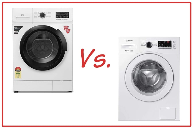 IFB Neo Diva BX (left) and Samsung WW65R20GLSW/TL (right) Washing Machines.