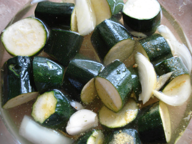 cooking zucchini in water