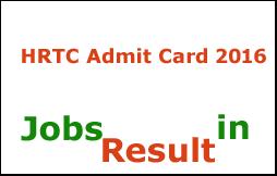 HRTC Admit Card 2016