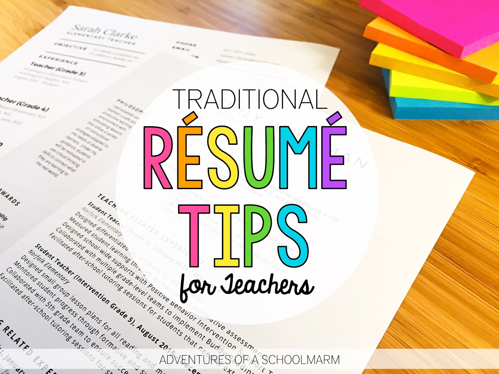 Résumé Writing for Teachers - Adventures of a Schoolmarm