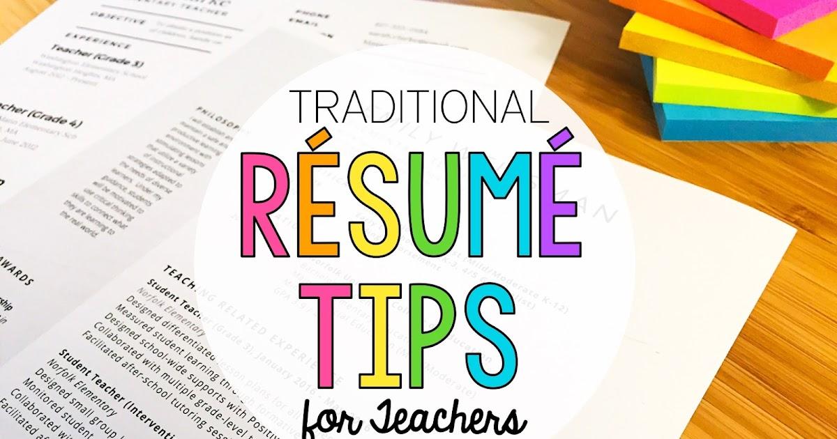 Résumé Writing for Teachers - Adventures of a Schoolmarm