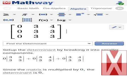Free | Latest Apps News: 7 Android applications of ... Mathway Determinant on