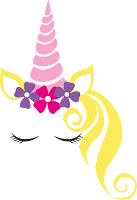 unicornio con flores png