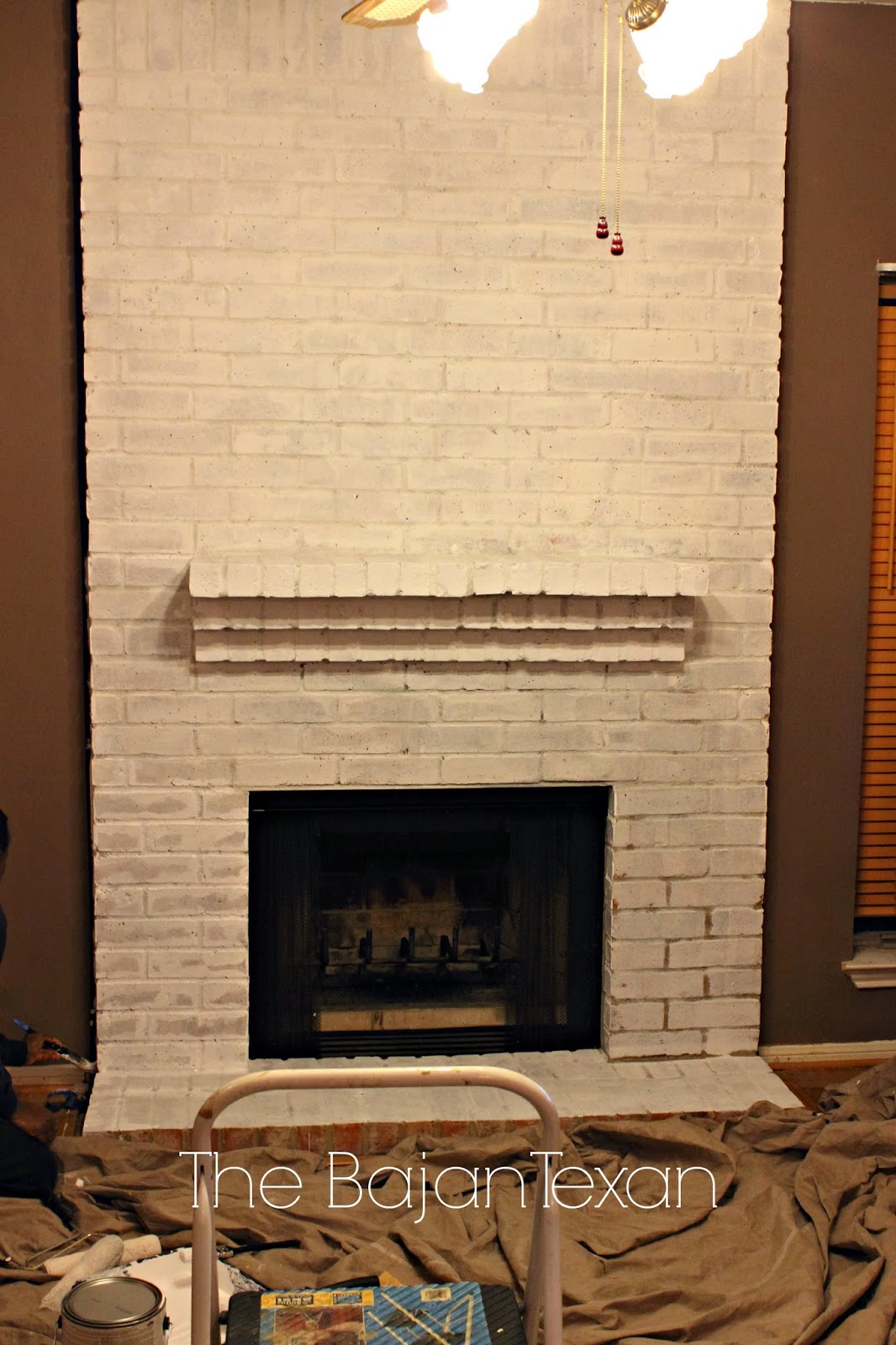 Painting Over Fireplace How To Paint A Brick Fireplace The Bajan Texan
