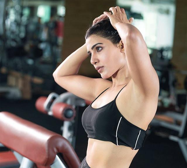 Samantha Akkineni Gym Workout Stills Navel Queens