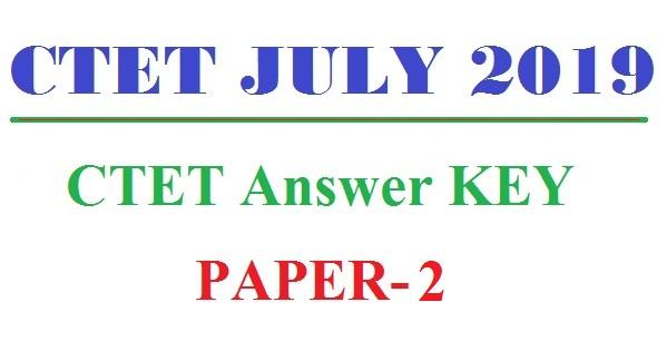 CTET Answer KEY 2019 PAPER 2