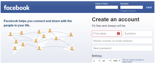 Facebook Login in Facebook Login in a Sign in