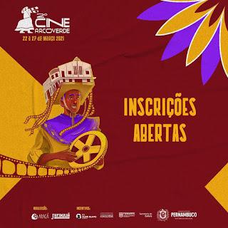 FESTIVAL CINE ARCOVERDE COM INSCRIÇÕES ABERTAS