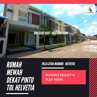 Jual rumah mewah 2 Lantai ready dan siap huni dekat pintu tol Helvetia Medan