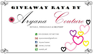 Giveway Shawl Raya by Aryana Couture