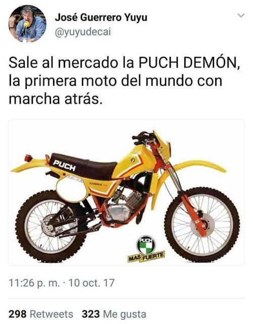 Moto, Puch Demón, marcha atrás