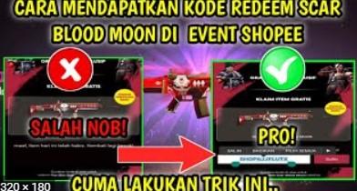 Kode Redeem FF Scar Blood Moon