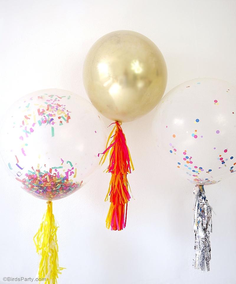 3 DIY Faciles Pour Pimper les Ballons de Fête | BirdsParty.fr