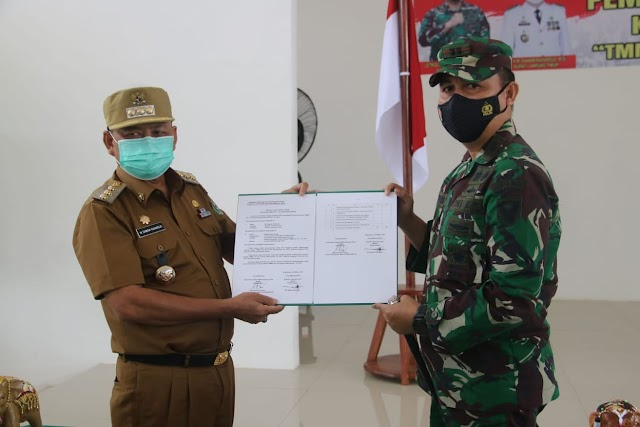 TMMD Ke-110 TA.2021 Kodim 0429/Lamtim Resmi Dibuka Bupati Lampung Timur