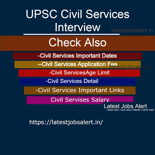 UPSC Civil Services Interview Released 2020-