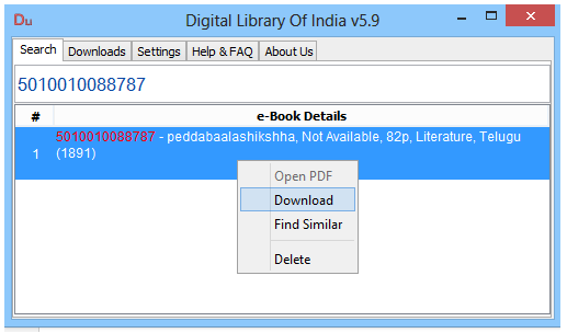 Digital Library Of India: Telugu Books Free Download