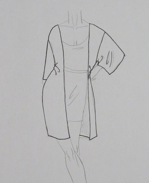 Dibujo de kimono una vez acabado
