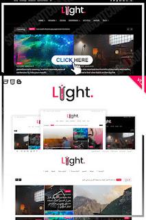 Light - News & Personal Magazine Blogger Theme - Instagram Widget  -  aesthetic blog templates 2021