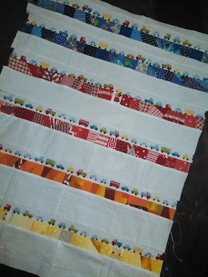 ProsperityStuff Crumb Quilt Top colorful stripes