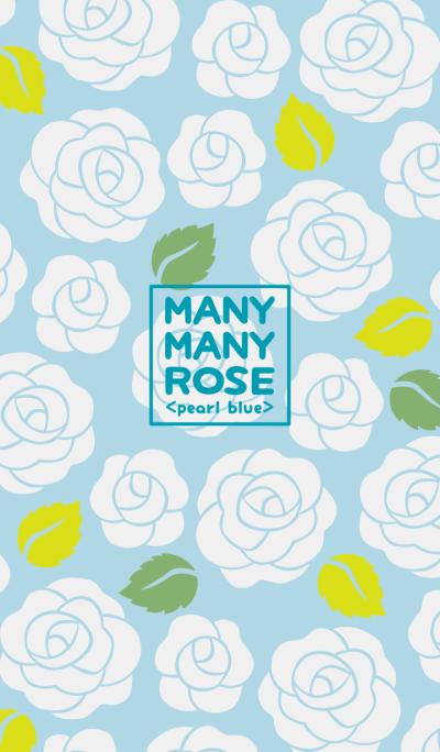 MANY MANY ROSE <pearl blue>
