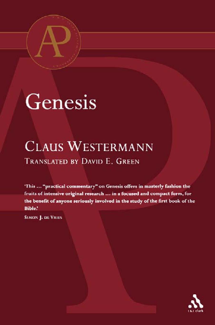 Claus Westermann-Genesis-