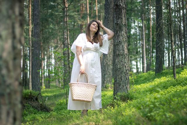 Długa Sukienka Z Koronką / Maxi w stylu boho