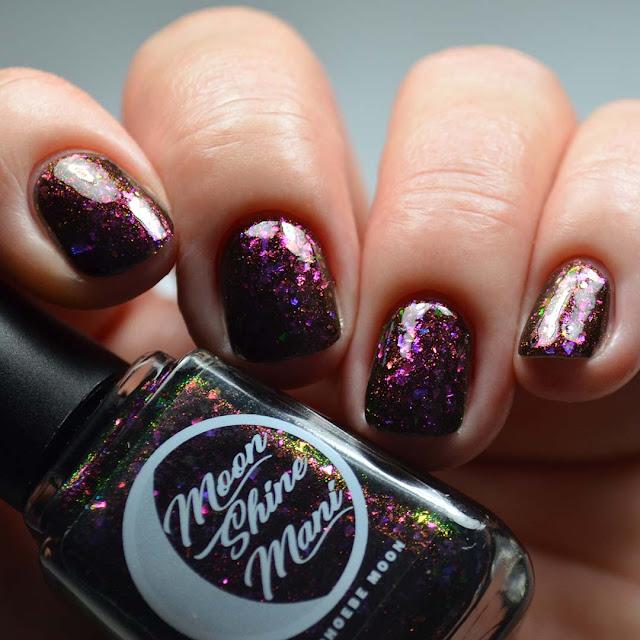 black jelly nail polish swatch