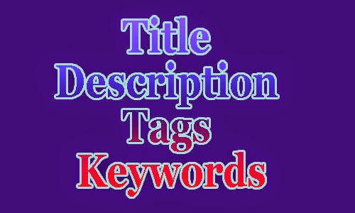 Meta Description Title Keywords and Tags